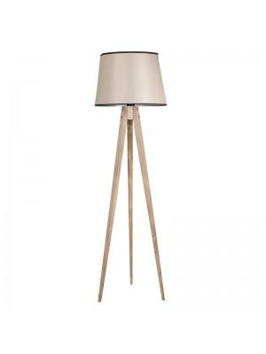 Лампион трипод с бежова шапка D45x160cm