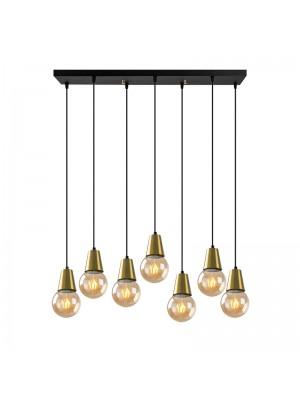 Полилей със 7 лампи цвят черен/бронзов 80x24x104cm