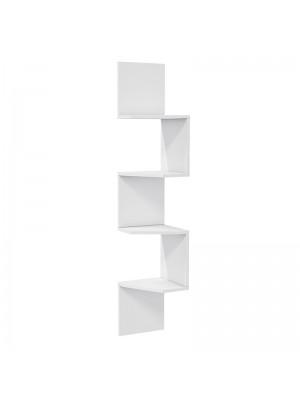 Стенна бяла етажерка 29.5x29.5x155cm