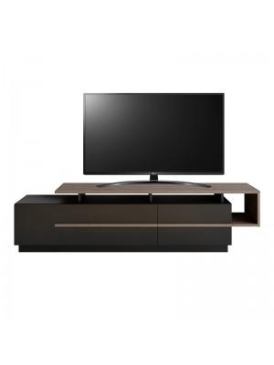 ТВ шкаф в черен/естествен цвят 180x46,5x46,5cm
