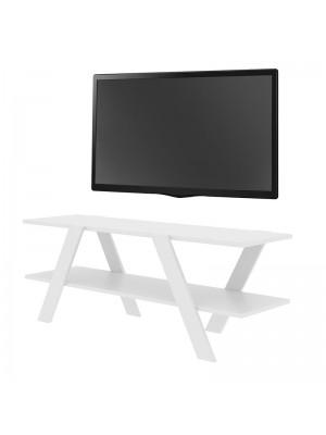Бял ТВ шкаф 120x33x45cm