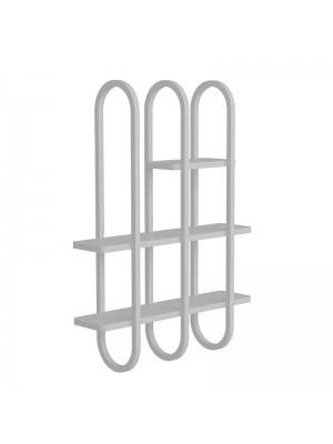Стенна етажерка цвят бяло/сиво 86,5x22,5x122cm