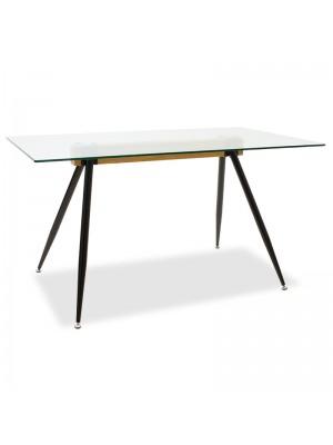 Трапезна маса Astrid със стъклен плот 10mm 140x80x75cm