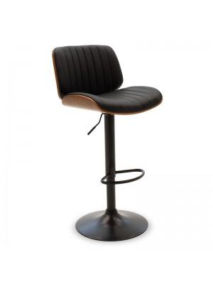 Бар стол Fern с регулиращ механизъм и черна седалка