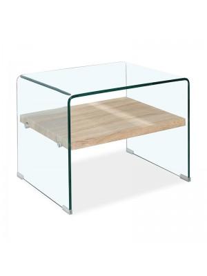 Стъклена  маса Compton  Clear Club  63x50x48cm GLASS LINE