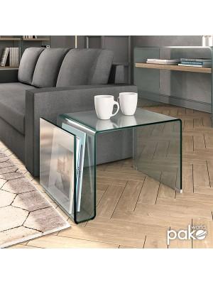 МАСА Dario Clear Club ЗАКАЛЕНО СТЪКЛО 10mm 61x42x37cm GLASS LINE