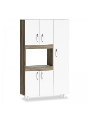 Кухненски шкаф Defne pakoworld в цвят бял/орех 89x37.5x160cm