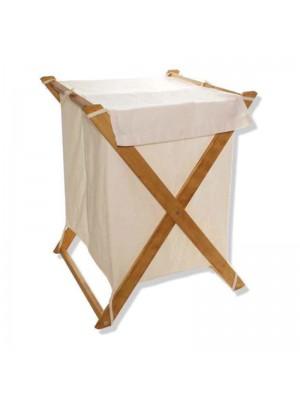 Кош за пране Lumin 80L текстилен с метална стойка 45x35x70cm