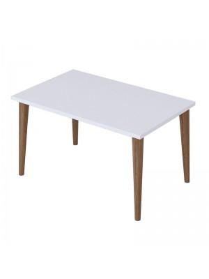 Холна маса Zahar цвят бяло/кафяв 72x45x42cm