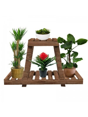 Дървен цветарник Tisa 75x25x49cm