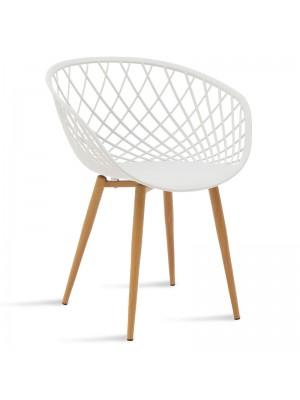 Стол Ezra с бяла седалка