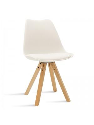 Стол Caron в бял цвят