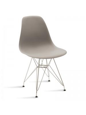 Стол Adelle в сиво - крака цвят инокс