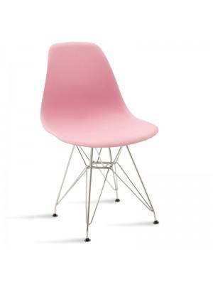 Стол Adelle в розово - крака цвят inox