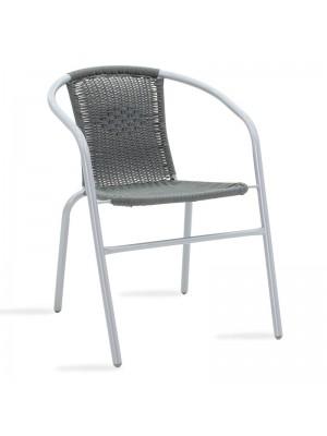 Метален градински стол Obbi в сив цвят