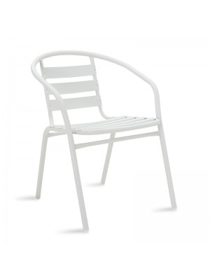 Градински стол Tade метал в бял цвят