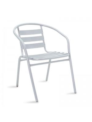 Градински стол Tade метал в сив цвят