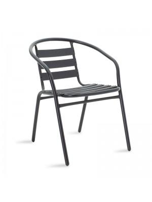 Метален градински стол Tade в черен цвят