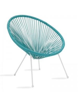 Градински стол Acapulco метален в син цвят