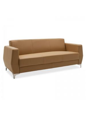 Триместен диван Dermis цвят табак с иноксови крака 188x75x75cm