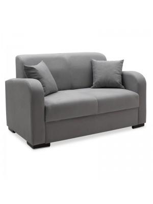 Триместен диван Xania с дамаска сив текстил 147x82x89cm
