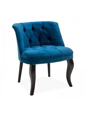 Кресло Loreta тъмно син плюшен 59x64x73cm