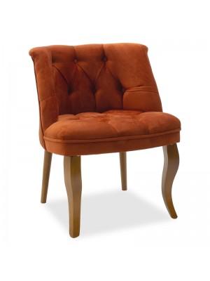 Кресло Loreta керемиден цвят плюшен 59x64x73cm