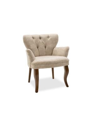 Кресло Samara с бежова текстилна дамаска 67x62x78cm
