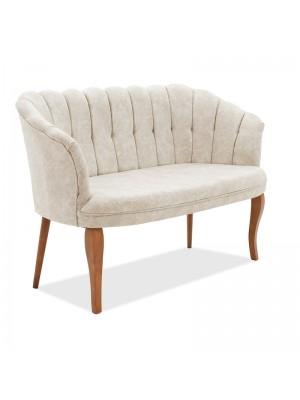 Двуместен диван Daisy с бежова текстилна дамаска 128x69x82cm