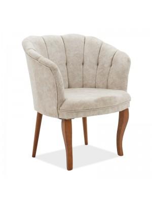 Кресло Daisy с бежова текстилна дамаска 73x69x82cm