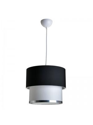 Полилей в черно и бяло със сребърен кант D30x55cm