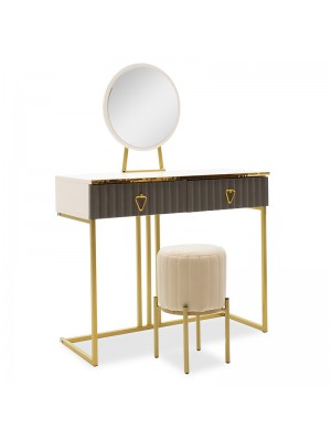 Тоалетка с огледало и табуретка Daria 100x40x139cm