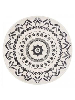 Килим Nomade в черно и бяло D120x0,5cm