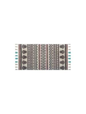 Килим Rute в бежово-кафяв цвят 140x70cm