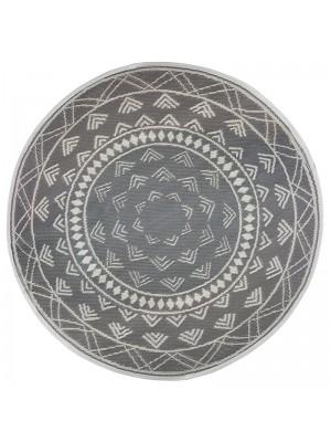 Килим цвят сив/бял D150x0,5cm