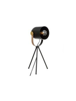 Настолна лампа Bil Ε27 черно-златиста 18x16x45cm
