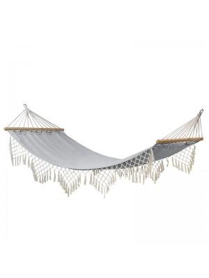 Хамак Fringe цвят бял/сив 200x100cm