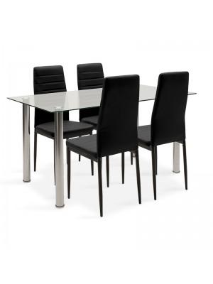 Комплект маса с 4 стола Hazel-Parker 140x80x76cm