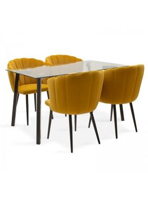 Комплект маса с 4 стола Tomi-Esme 140x80x76cm