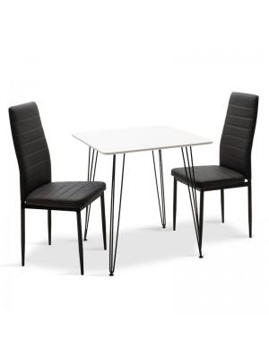 Комплект маса с 2 стола Jade-Parker 70x70x75cm