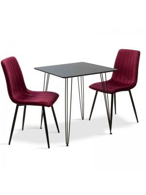 Комплект маса с 2 стола Jade-Noor 70x70x75cm