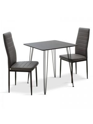 Комплект маса с 2 стола Neve-Parker 70x70x75cm