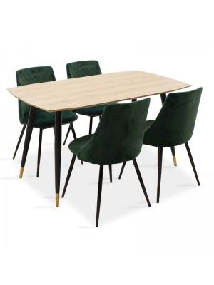 Сет трапезна маса Napolitan с 4 стол Giselle