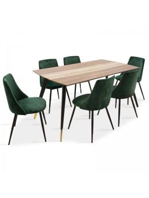 Сет трапезна маса Toronto с 6 стола Giselle