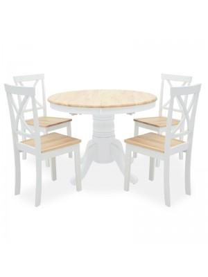 Сет разтегателна трапезна маса Hug с 4 стола