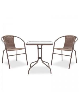 Градински сет Obbi-Watson - маса с 2 стола