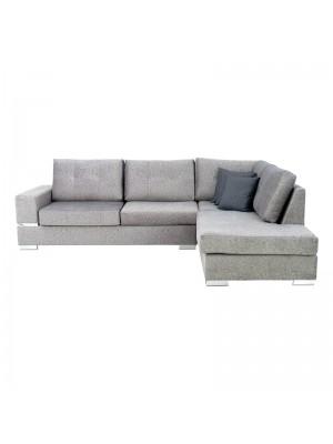 Ъглов диван Lyon със светлосива дамаска