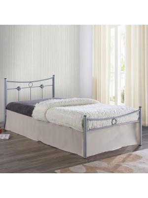 ЛЕГЛО DUGAN Bed 90x200 СРЕБРИСТО Ε8068,1