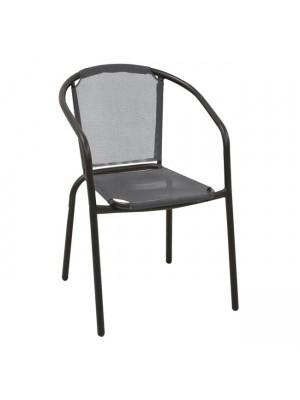 СТОЛ BALENO Armchair Steel Black/Textilene Grey E2402,1