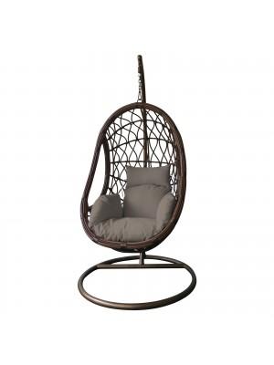 Стол люлка MACAN кафяв с възглавница цвят капучино Ε6766,3
